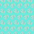 Seamless pattern of floral watercolor hearts — Stock Photo #76011207