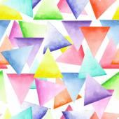 Parlak üçgenler ile kesintisiz geometrik desen — Stok fotoğraf