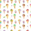 Ice cream and confection pattern on a white background — Stock Photo #78597234