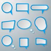 Dialogfeld. — Stockvektor