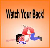 Watch your back — Stock Photo