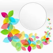 Colorful background with flying flowers — Wektor stockowy