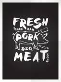 Fresh pork meat — Stock Vector