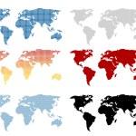 World map set — Stock Vector #69508133