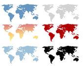 World map set — Stock Vector