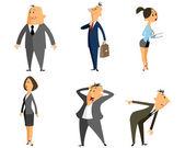 Six profession people — Stock Vector