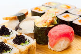 Mixed sushi plate  — Stock Photo