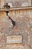 Piazza Di San Maria in Trastevere  street sign in Rome, Italy — Stock Photo