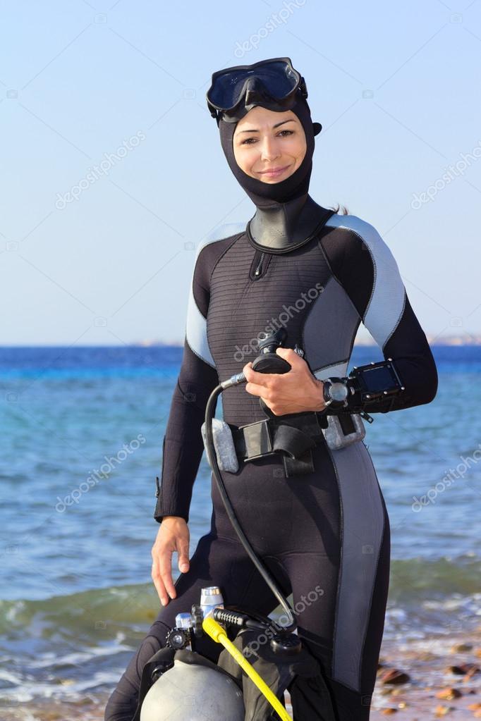 Девушка водолаз фото