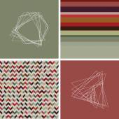 Geometric colored hipster striped pattern background 1 — Stock Vector