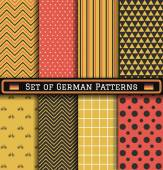 Set of German Independence day patterns — Stock Vector