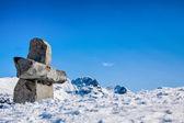Inukshuk Rock, Whisler, BC — Stock Photo