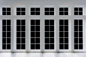 Residential window frame — Stock Photo