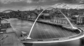 Newcastle monochrome bridge — Stock Photo