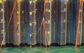 Orange ribbons in water — Fotografia Stock