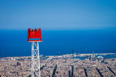 Red ride over Barca — Stock Photo