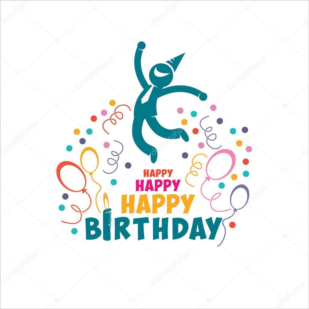 Happy Birthday Images Hombres ~ Feliz cumplea�os ilustraci�n de vector gente alegre hombre archivo im�genes vectoriales