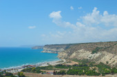 Beach in the vicinity of the ancient Kourion — Stock Photo