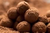 Homemade chocolates — Stock Photo