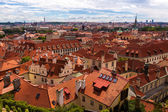 Red roofs of Prague aerial view — Stock Photo
