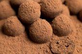 Dark chocolate sweet balls — Stock Photo