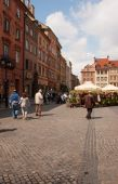 Warsaw - Square of the Old Town — Stock Photo
