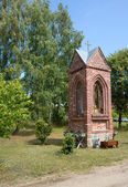 Poland.Roadside chapel in the countryside — Stock Photo