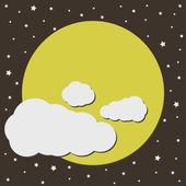 Full moon — Stock Vector
