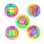Luggage bags — Stock Vector