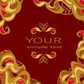 Art nouveau pattern — Stock Vector