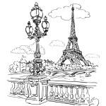 Eiffel Tower — Stock Vector #73900115