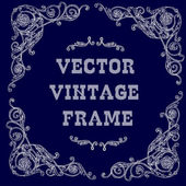 Белая барочная рамка — Cтоковый вектор