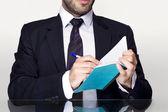 Businessman notebook — Stock Photo