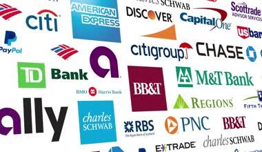 Banking Brands Logo Loop — Stock Video