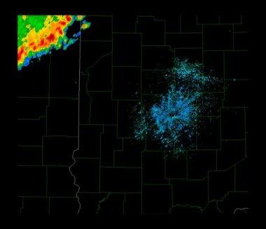 Severe Thunderstorm Weather Radar Time Lapse — Stock Video