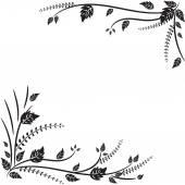Monochromen Hintergrund mit floralen Elementen — Stockvektor
