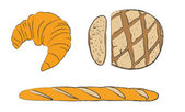 Croissant and bread — Foto de Stock