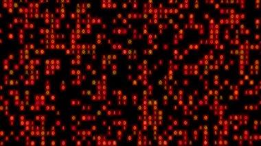 Data Stream Binary Glowing Zoom In Blue Green — Stock Video