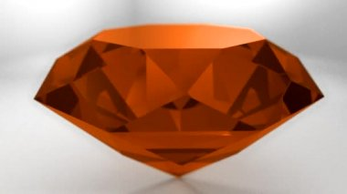 Amber orange gemstone gem stone spinning wedding background loop — Stock Video