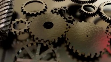 Gear cogs rotating system gearbox watch mechanism — Stock Video