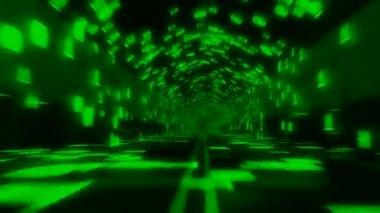 Data Binary Tunnel Green Seamless Loop — Stock Video
