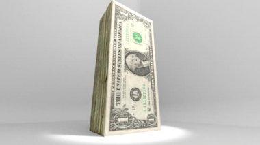 Dollar Currency Deflate Deflation Animation 2 — Stock Video