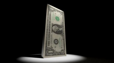 Dollar Deflate Deflation Animation — Stock Video