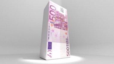 Euro Currency Deflate Deflation Animation 2 — Stock Video