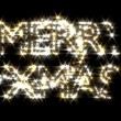 Merry Xmas text in gold and silver sparkles pArt Objectsicles fairy dust wand — Stock Video #69328537