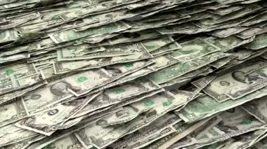 Money Piles Stacks of Dollars Financial US Currency Tax Seamless Loop Brighter — 图库视频影像