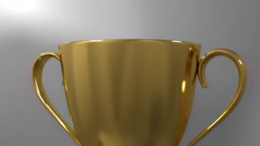 Trophy award ceremony intro with space for title text nomination gold cup — Stock Video