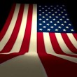 USA US American Flag Curving Upward Stars and Stripes Large Big — Stock Video #69476713