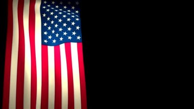 USA US Flag Vertical Closeup Waving CG — Stock Video