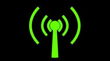 Wifi wireless internet netrwork net connection icon logo wi-fi wi fi — Стоковое видео